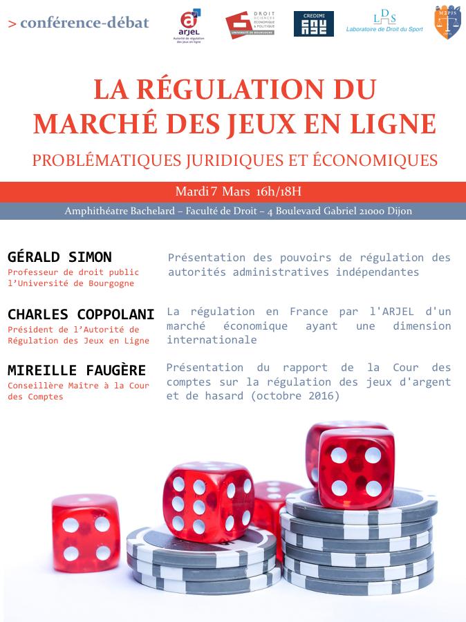 Conférence débat, la régulation du marché des jeux en ligne